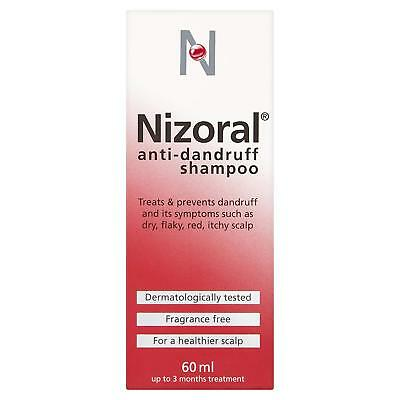 Nizoral Anti Dandruff Shampoo, 60ml Dermatologically Tested and Fragrance Free