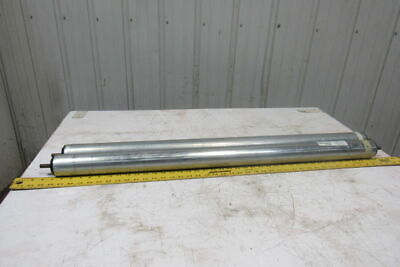 """2.5"""" OD 40-1/8""""BF 39-11/16"""" Face Gravity Conveyor Roller 7/16"""" Hex Axle Lot Of 2"""