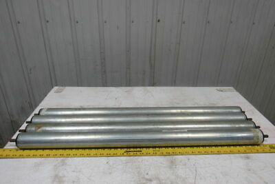 """2.5"""" OD 38-1/2""""BF 38-1/16"""" Face Gravity Conveyor Roller 7/16"""" Hex Axle Lot Of 4"""