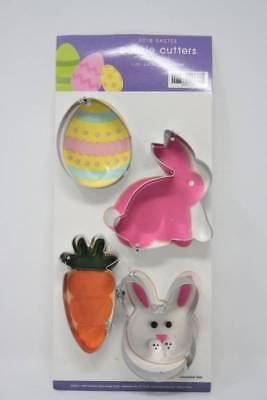 Easter Cookie Cutters Egg Carrot Bunny Head Bunny Body Silver Plastic