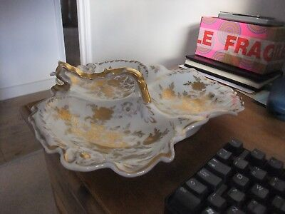 Fabulous French Antique Divided Serving Bowl By Belor Main Paris