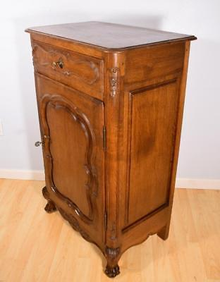 Antique French Provincial Sideboard/Bar Cabinet/Console in Oak