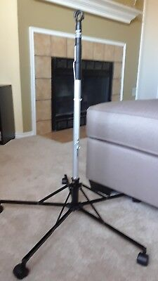 Sharps Pitch-It Sr. IV Therapy Pole Portable Adjustable Lightweight Hook #30006