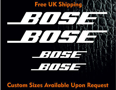 Bose Audio Car 4x4 Sticker Decal Vinyl Tuning Bumper Window Panel Decorative