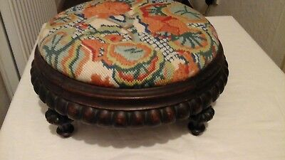 victorian tapestry stool very pretty