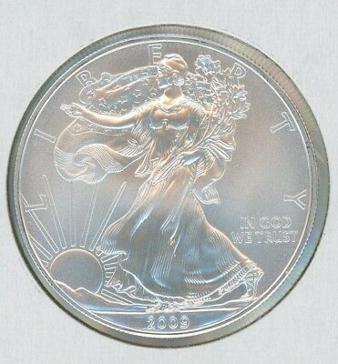 2009 Silver American Eagle BU 1 oz Coin US $1 Dollar Mint Uncirculated BU
