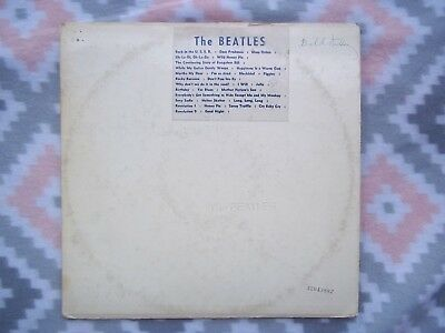 The Beatles White album original LP. Songs sticker front cover.