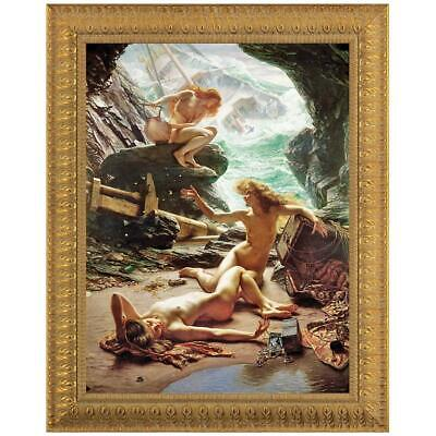 Design Toscano The Cave of the Storm Nymphs, Canvas Replica Painting: Grande