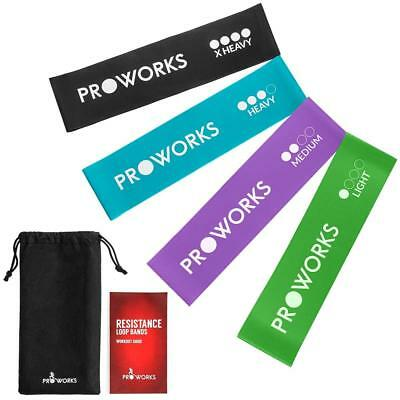 Proworks Resistance Bands | Set of 4 Heavy Duty Fitness Exercise - Includes...