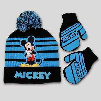 7c6d1ac78866d Disney - Mickey Mouse Boy's Hat & Mittens Set Size Infant/toddler Nwt