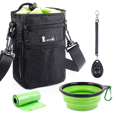 Pecute Waterproof Dog Treat Pouch Bag with Multiple Pockets,Adjustable Belt...