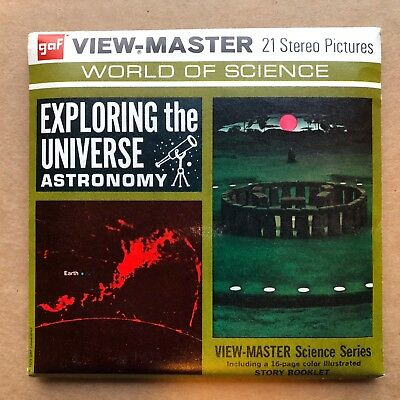 GAF View-Master 3-Reel Set EXPOLORING UNIVERSE ASTRONOMY B687 Complete!