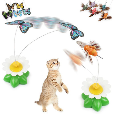 Anano Butterfly Birds Cat Toys,Funny Pet Interactive Toys with Electric...