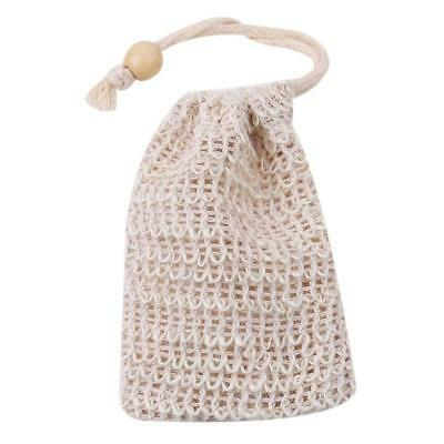 1PC Sisal Exfoliating Natural Mesh Soap Saver Bag Pouch Holder For Travel DB