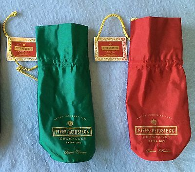 New Green & Red Insulated Champagne Wine Cooler Bag Piper-Heidsieck Reims France