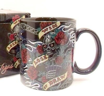 Las Vegas Skull Mug Win Loose Or Draw Gambling Island Heritage New 12 oz Cup
