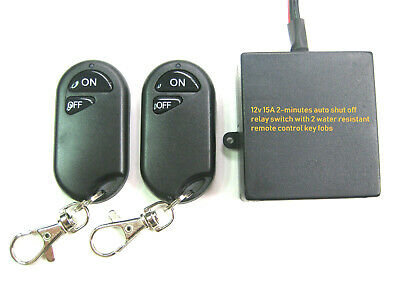 12V 15A  2-minutes auto shut off relay switch with 2 remote key fob TS100-2