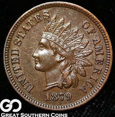 1879 Indian Head Cent Penny, Nice Strike, Better Date