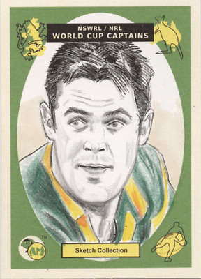 Brad Fittler  Rugby League World Cup 1995 NSWRL  Acheron Mint sketch card