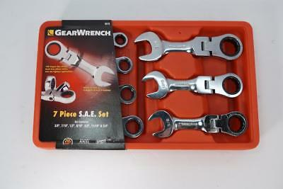 New GearWrench 9570 Standard SAE Stubby Flex Head Combination Ratcheting Wrench
