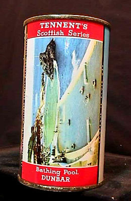 Tennents Lager Scottish Series - 1950's 12Oz Flat Top Can - Bathing Pool Dunbar
