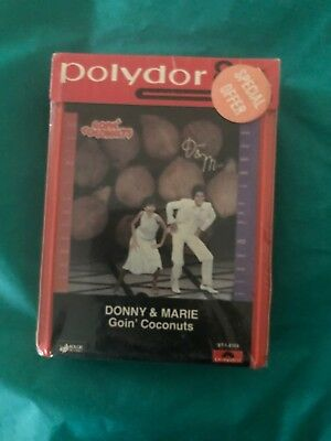 DONNY & MARIE OSMOND Goin' Coconuts 8 Track Tape sealed New Polydor 1978 RARE