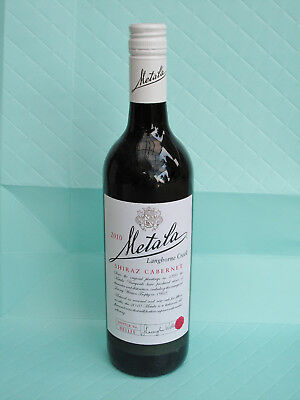 Metala 2010 Shiraz Cabernet Wine. Sealed unopened. Limited numbered.