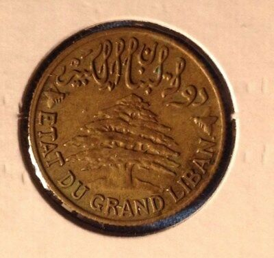 1940 - world foreign coin - LEBANON  - 5 Piastras - Middle East
