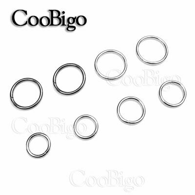 """12X Non Welded 5/8""""~2'' Metal O Ring Plated Backpack Harness Rings Accessories"""