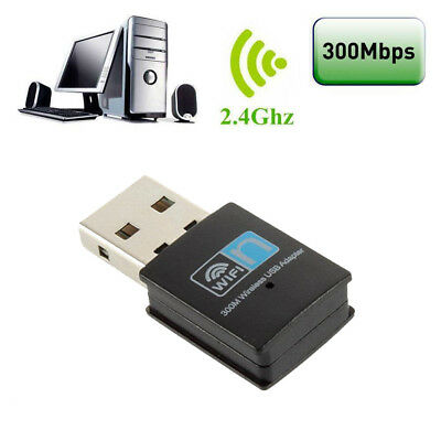 USB WLAN 300Mbps WiFi Wireless Netzwerk Adapter Lan Stick für PC Computer Laptop