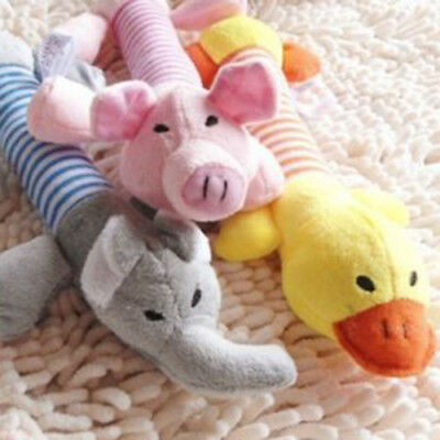 Pet Puppy Chew Squeaker Squeaky Plush Sound Pig Elephant Duck Ball Dog Toys tall