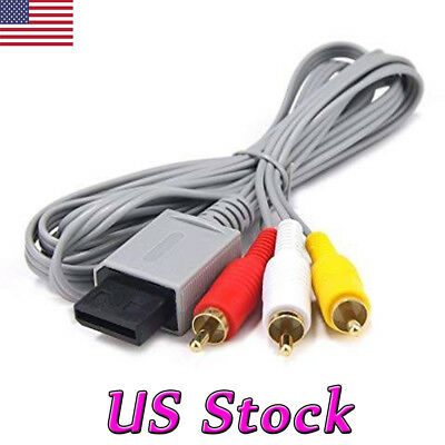 Audio Video AV Composite 3RCA Cable TV Lead Wire For Nintendo Wii Game New
