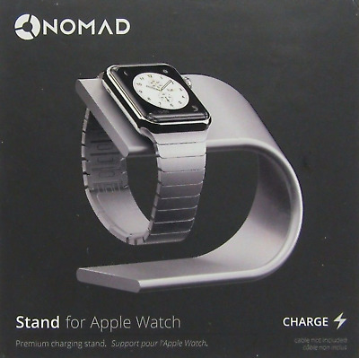 NOMAD Stand for Apple Watch (Silver) New / OEM / Genuine / Hidden Cable