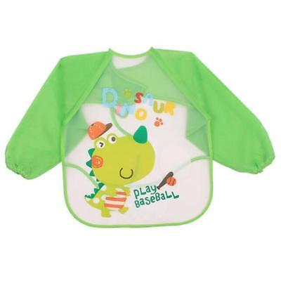 Baby Toddler Waterproof Long Sleeve Bibs Children Kids Feeding Smock Apron LS3