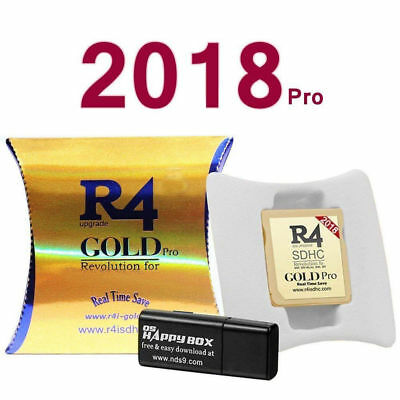 R4 Gold Pro SDHC For DS / 3DS / DSI / Revolution Cartridge With USB Adapter
