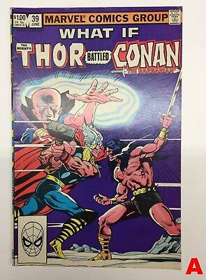 Marvel Comics What If #39 The Mighty Thor Battled Conan the Barbarian #A F/VF