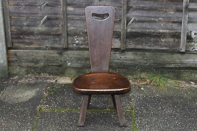 1 Child Rupert Nigel Griffiths Monastic Cottage Hall Chair Stool Pew Oak Vgc