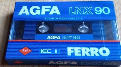 Agfa Lnx 90 Sealed Single Brand New Factory Sealed Blank Audio Cassette Tape