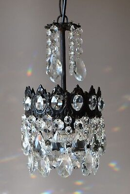 Vintage Crystal Chandelier in Antique French Style,Home Interior Bronze Lighting