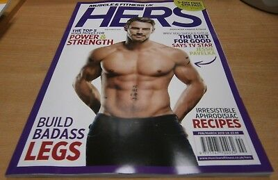 Muscle & Fitness Hers UK magazine Feb/Mar '19 Jessie Pavelka +Strengt Yoga move