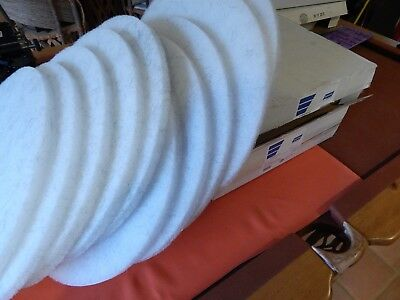"""New Norton 2 Cases (10) 20"""" Floor Polisher Burnishing Cleaning Pads White Fine"""