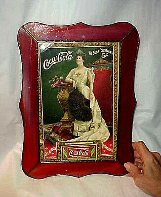 ANTIQUE 1904 COCA COLA ADVERTISMENT & 5 CENT COUPON in CUSTOM STAIN GLASS FRAME