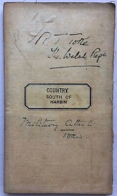 CHINA RUSSIA JAPAN WAR MILITARY MAP COUNTRY SOUTH OF HARBIN R. T. Toke Welch Reg