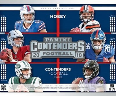 2018 Panini Contenders Football Hobby Pack. 5 Autos Per Box Mayfield/Barkley??