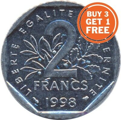 2 Francs French 1977 To 2001 Choice Of Date