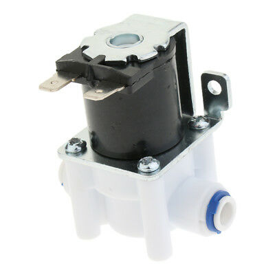 DIGITEN DC24V 1//4 Electric Solenoid Valve N//C Feed for RO Water Air with Quick Connect