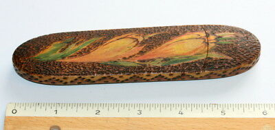 Very Rare England C1850,  Poker Work Spectacles Case Etui, Excellent Cond.