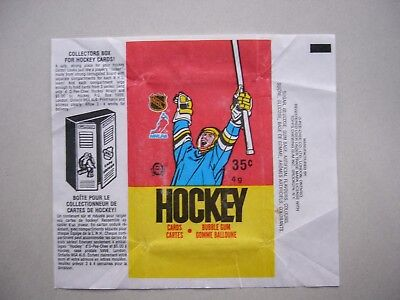 1987/88 O-Pee-Chee Nhl Hockey Card Wax Pack Wrapper Luc Robitaille Rookie Cl Opc