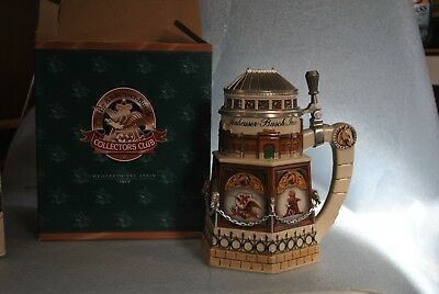 """Budweiser 1999 Members Only Stein """"Clydesdale Stable"""" CB11 MIB"""