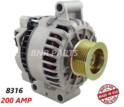200 AMP 8316 Alternator Ford Excursion Super Duty High Output Performance HD NEW